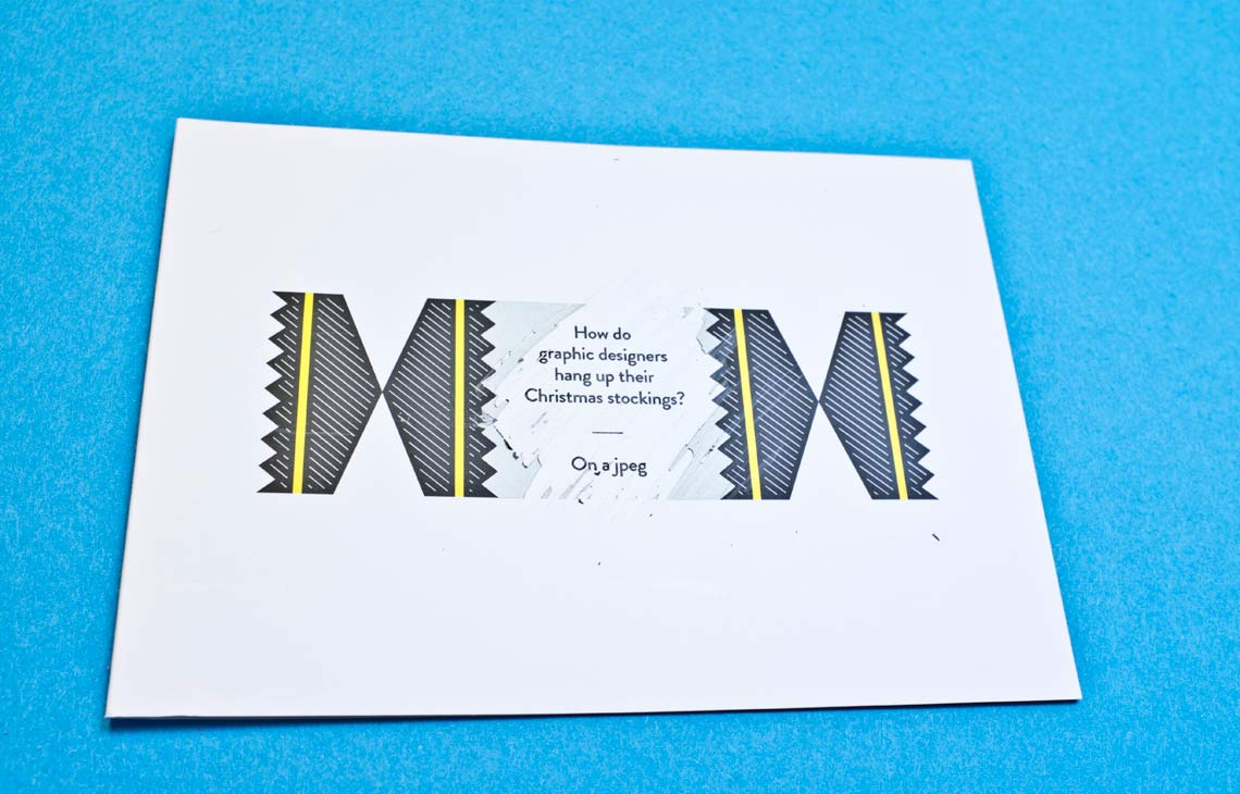 Christmas cracker card design – black